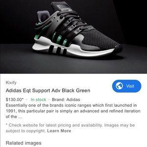 adidas Shoes - Adidas Men EQT Black/Green